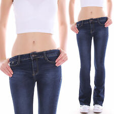 Ladies Bootcut Jeans Trousers Impact Low-rise Flares Cut Stretch Low Waist D42