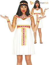Ladies Cleopatra Fancy Dress Costume Adults Egyptian Queen Goddess Outfit