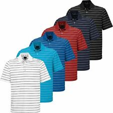 Greg Norman 2017 PlayDry Micro Core Pique Stripe Mens Golf Polo Shirt