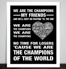 Queen We Are The Champions Music Song Lyric Art Print Freddie Mercury May