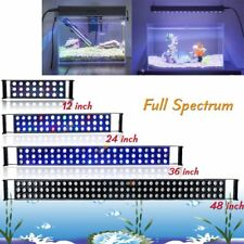 "12"" 24"" 36"" 48"" LED Aquarium Light Full Spectrum Dimmable Reef Coral Fish Tank"
