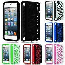 For Apple iPod Touch 5th Gen Phone Case ZEBRA Hybrid 2-Piece Hard Soft Cover