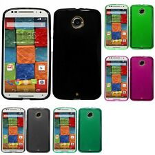 For Motorola Moto X (2014) Case TPU Rubber Crystal Skin Phone Slim-Grip Cover