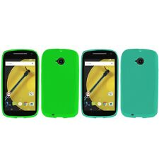 For Motorola Moto E LTE 2nd Generation Case TPU Rubber Crystal Skin Cover