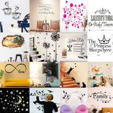29Style Kid Wall Sticker Removable DIY Art Vinyl Decals Quote Flower Mural Decor