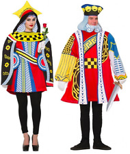 Couples Fancy Dress King + Queen of Hearts Playing Card Costume Alice Wonderland