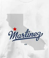 Martinez, Contra Costa County, California CA MAP T Shirt All Sizes & Colors
