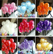 "100pcs 10""Balloon Colorful Pearl Latex Celebration Birthday Party Wedding"