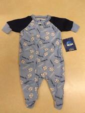 NEW North Carolina Tar Heels Baby Infant Sizes 3/6-6/9-12 Month Footie Pajamas
