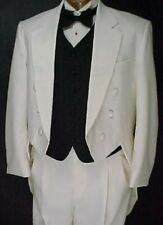 AFTER SIX IVORY 4pc BOYS TAIL TUXEDO PROM WEDDING MANY SIZES AVAILABLE  3-18