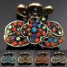 ADD'L Item FREE Shipping - Rhinestone Crystal Antiqued Flower Hair Claw Clip