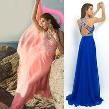 Womens Dress Chiffon Evening Party Formal Bridesmaid Prom Ball Gowns Long Dress