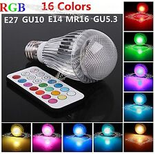 RGB 3W E27/GU10/E14/B22 Multi-color LED Magic Light Bulb Lamp +IR Remote Control
