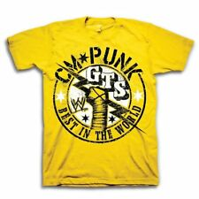 Youth WWE World Wrestling Ent. CM Punk GTS Best In The World Yellow T-shirt Tee