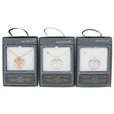 Equilibrium Stylish Heart Pendant Necklace - Silver Plated -  3 Colours - 49445