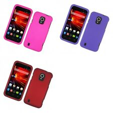 For ZTE Majesty Z796C Hard Snap-On Rubberized Phone Skin Case Cover