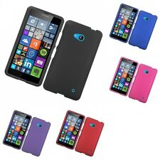 For Microsoft Lumia 640 Hard Snap-On Rubberized Phone Skin Case Cover