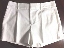 Banana Republic Womens Shorts NEW White-Cotton-Stretch-Textured-NWT-MSRP-$49