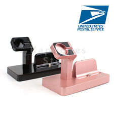 US Charging Cradle Bracket For iPhone Watch Station Charger Dock Holder Stand