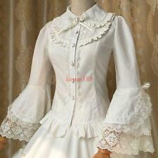 Vintage Lolita Gothic Princess Retro Lace Sleeve Shirt Blouse top stage cosplay