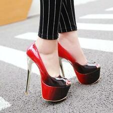 Sexy Women Stiletto Heels Party Super High Platform Club Queen Shoes Pumps New @
