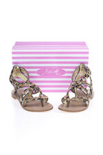 Sofia M Sandals Shoes -45% Leather MADE IN ITALY Woman Beiges GRAZIELLA-