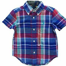 NWT Boys Ralph Lauren checked short sleeved polo shirt age 2 years