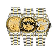 Mechanical Watch Automatic Skeleton Dial Sport Analog Stainless Steel Wrist Gift
