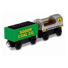 Thomas and Friends - Oil and Coal Wagons with Light - Wooden Railway Mattel