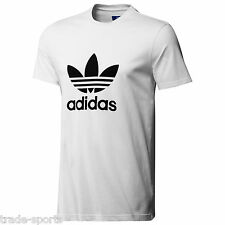 adidas ORIGINALS MENS TREFOIL LOGO TEE SHIRT SIZE S M L XL WHITE T-SHIRT CASUAL