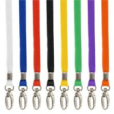 100x Premium BREAKAWAY Safety Lanyards and Swivel Metal Clip for ID Card Holder