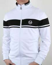 Sergio Tacchini Masters Track Top in White & Black - Orion Ghibli Dallas