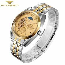Tourbillon Automatic New Watch Stainless Mechanical Wrist Skeleton Military Gift