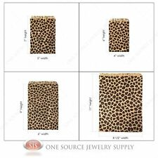 Lots of 100 Leopard Print Merchandise Bags Gift Bags Store Bags Paper Bags