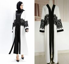 Muslim Women Long Sleeve Cardigan Islamic Abaya Kaftan Ladies Maxi Dress Jacket