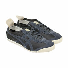 Onitsuka Tiger Mexico 66 Mens Gray Mesh & Suede Sneakers Shoes