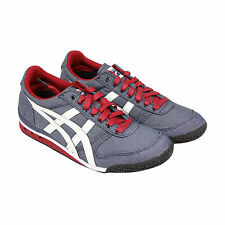 Onitsuka Tiger Ultimate 81 Mens Blue Textile Sneakers Shoes