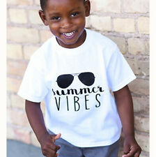 Summer Toddler Baby Boys Clothes Kids Cotton Tee Casual Short Sleeve T-Shirt Top
