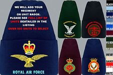 UNITS S-Z UK & FOREIGN ARMY ROYAL AIR FORCE NAVY RAF REGIMENT BEANIE WOOLLY HAT