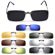 New Sunglasses Polarized Clip On Flip-up Driving Glasses Day Night Vision Lens