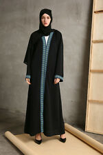 Dubai Muslim Women Kaftan Abaya Jilbab Islamic Cardigan Long Sleeve Maxi Dress
