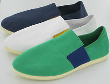 SALE Mens Unbranded Canvas slip on shoe with contrasting elastic band A1072