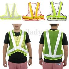 1 High Visibility Reflective Safety Vest Security Construction Traffic/Warehouse