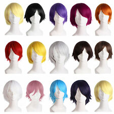 Man Fashion Light Short Straight Hair Wig For Comic Cosplay Party Hot Sell HT