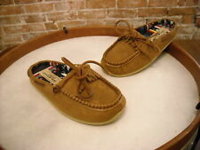Deer Stags Slipperooz Tan Brown Microsuede Pure Moccasin Slipper NEW