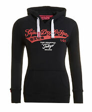 New Womens Superdry Tokyo Brand Entry Hoodie Eclipse Navy