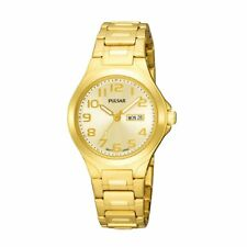 Pulsar  Ladies Analog Watch Casual Gold Band PXU036 PXT899