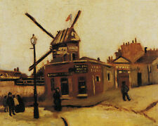 The Moulin de la Galette Van Gogh Art Decor Fine Wall (No Frame) Canvas Print