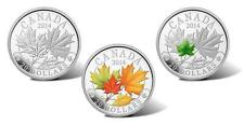 Canada - 2014 Majestic Maple Leaves Silver /Color/Jade 3-Coin Set in RCM Case