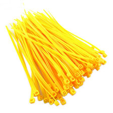 Nylon Cable Ties Large Zip Ties Cable Wrap Cable Tidy Yellow Wrap Fix  4X150mm
